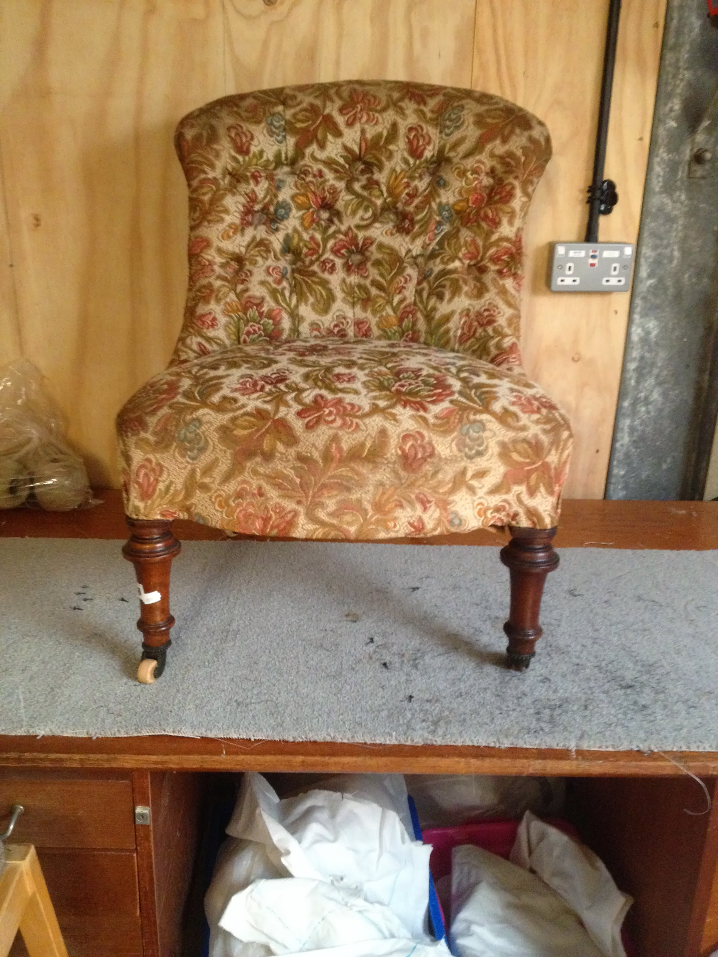 Pair of Victorian Nursing Chairs with Button Backs