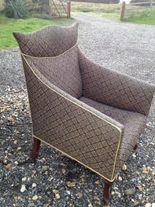 Unusual Edwardian Shaped Armchair