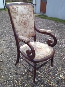 Unusual Regency style Wooden Chair