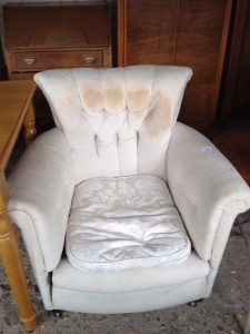 Edwardian buttoned Tub Chair