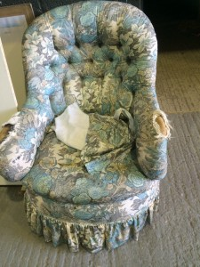 Victorian Iron back Armchair