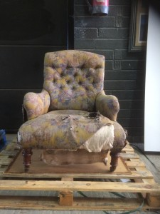 Howard and Son Style Victorian Armchair