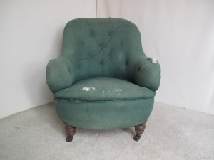 Victorian Style Button Back Armchair