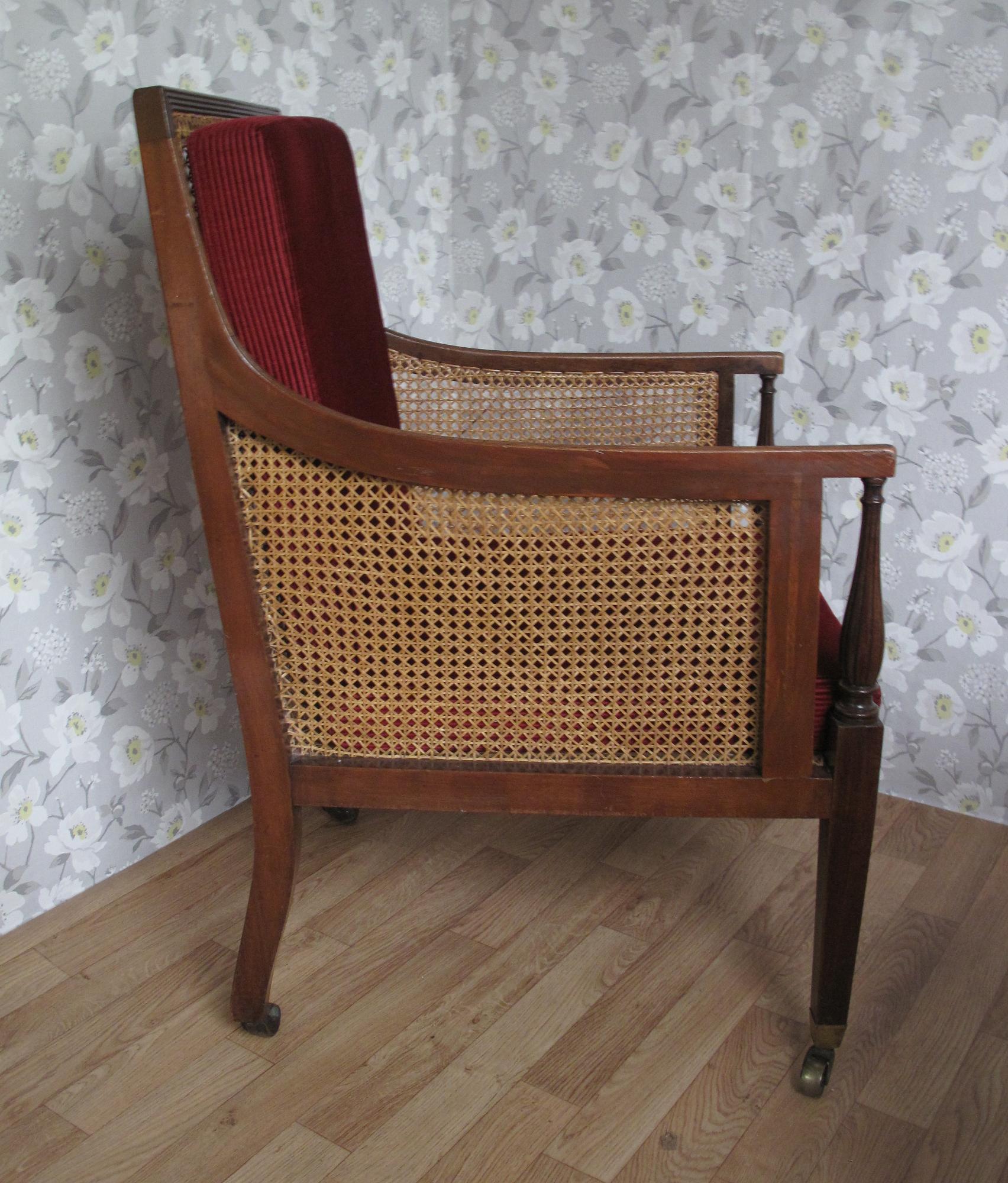Victorian Edwardian Bergere Chair