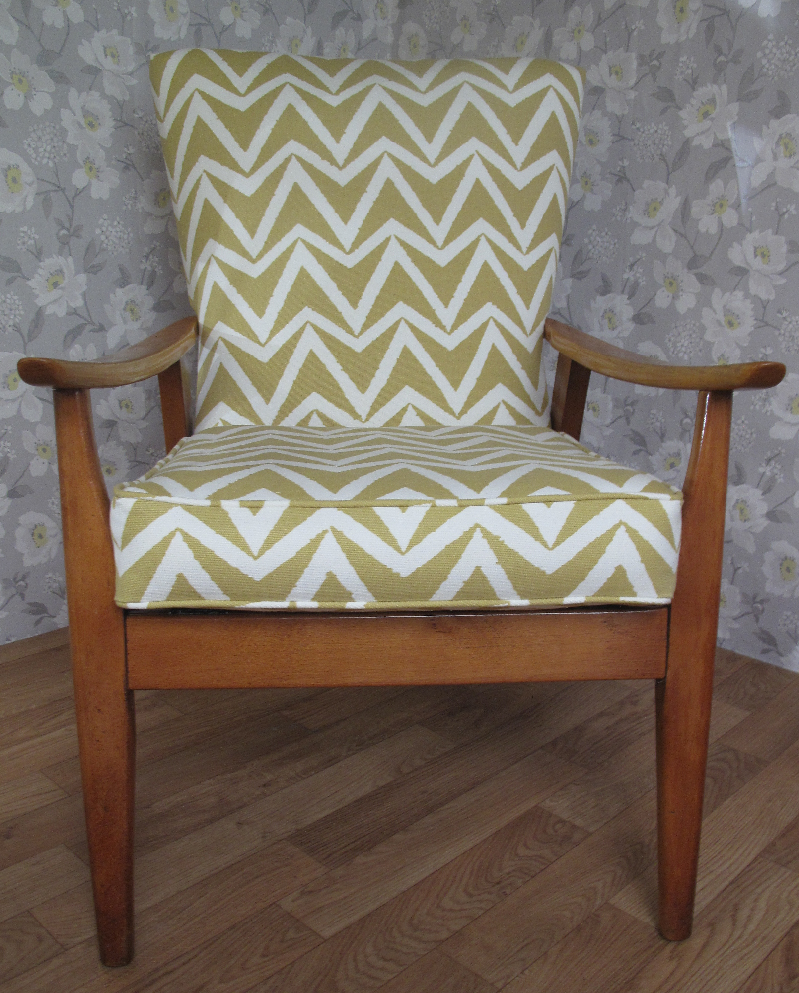 retro 1960s 70s armchair number 10 upholstery in dorset