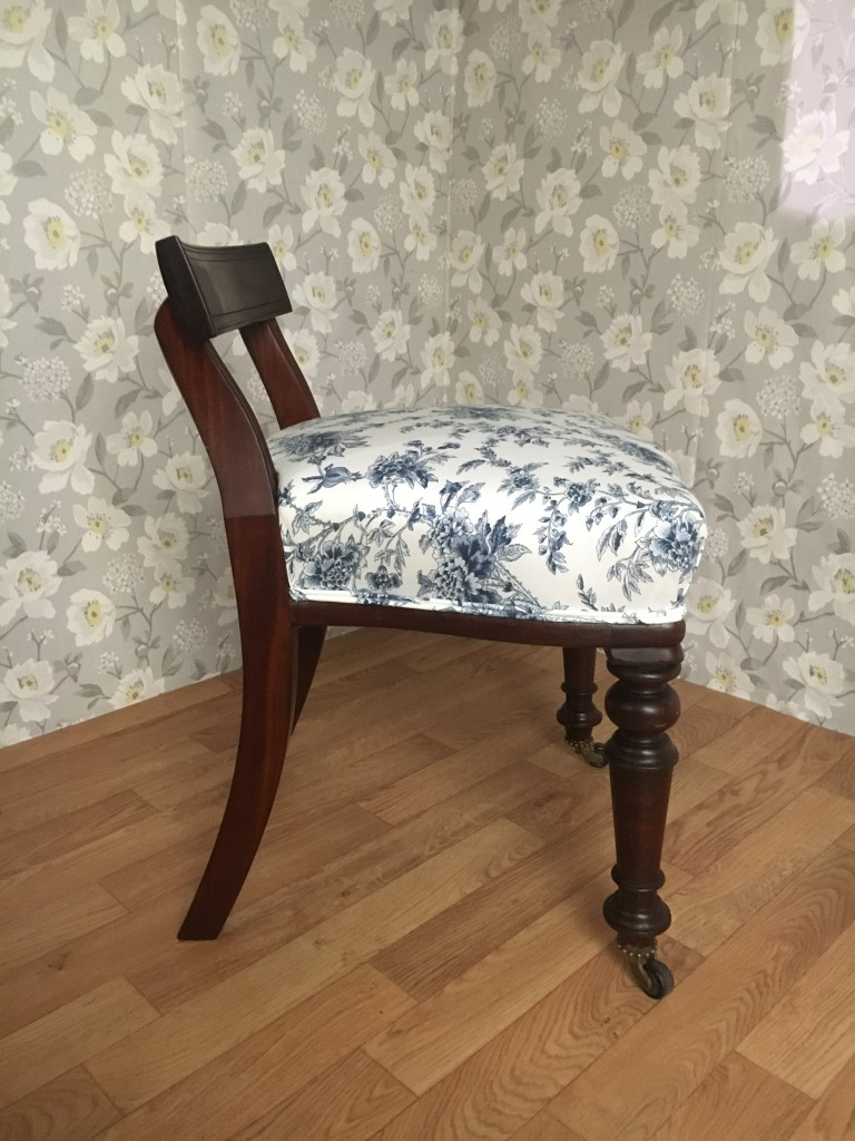 Victorian Dressing Table Stool Fabric