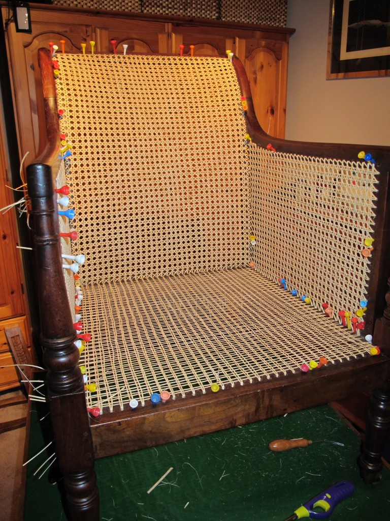 Caned Chair Side