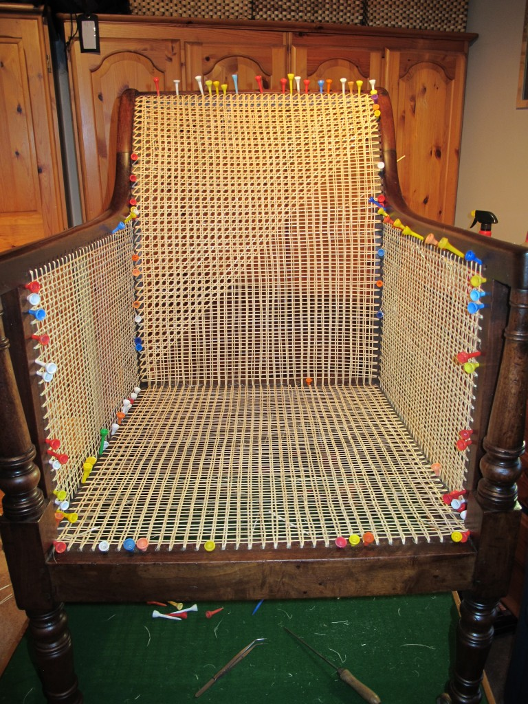 Caned Chair Front