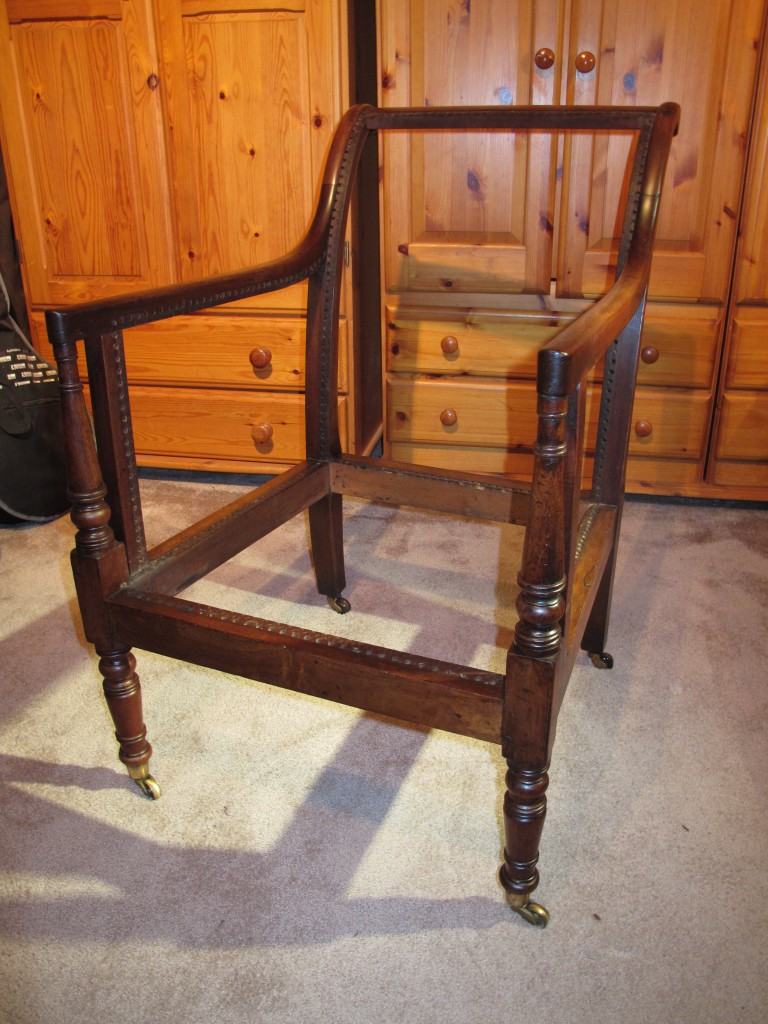 Caned Library Chair Frame