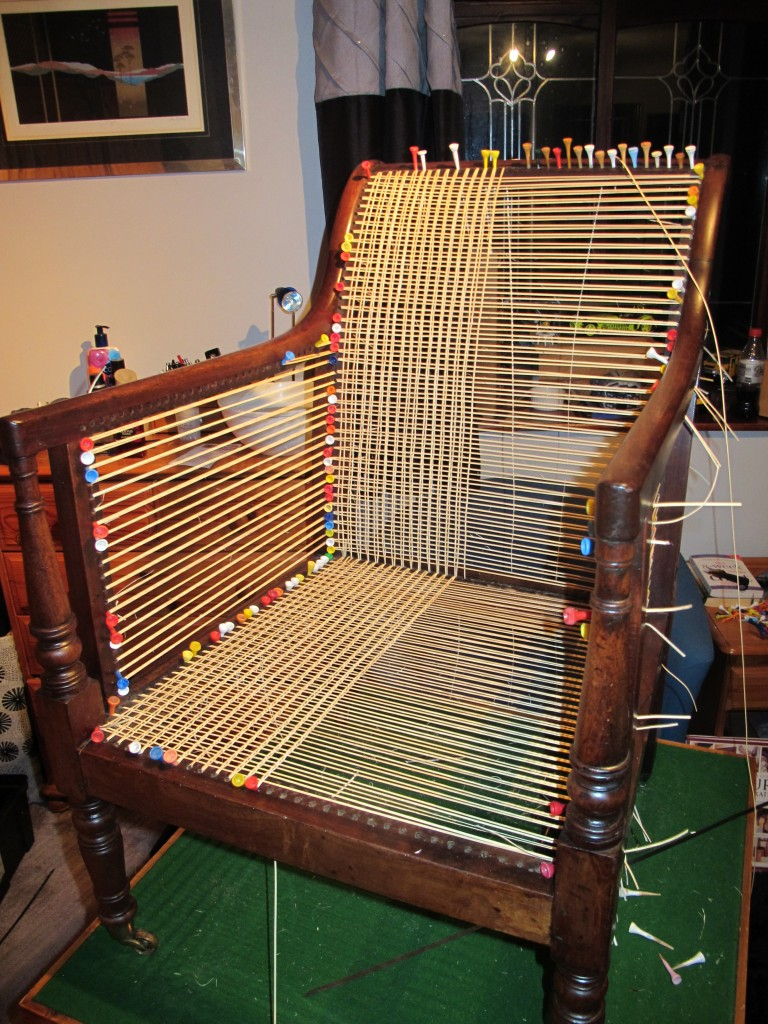 Caned Library Chair Second Phase
