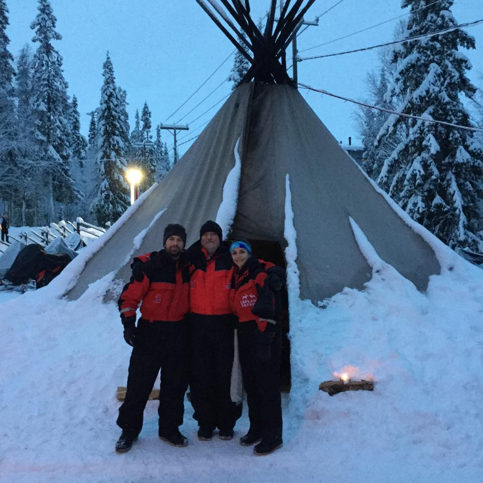 Dave and his family in Lapland - Snow, Huskies and Northern Lights.